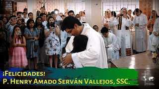 Embedded thumbnail for ¡Felicidades P. Henry Amado Serván Vallejos, SSC!